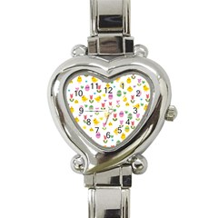 Easter - chick and tulips Heart Italian Charm Watch