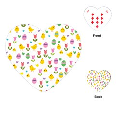 Easter - chick and tulips Playing Cards (Heart)