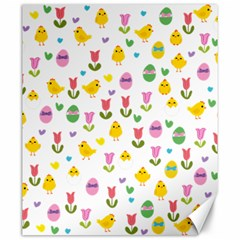 Easter - chick and tulips Canvas 20  x 24