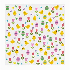 Easter - chick and tulips Medium Glasses Cloth