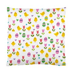 Easter - chick and tulips Standard Cushion Case (One Side)