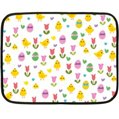 Easter - chick and tulips Fleece Blanket (Mini)