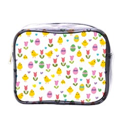 Easter - chick and tulips Mini Toiletries Bags