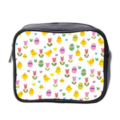 Easter - chick and tulips Mini Toiletries Bag 2-Side