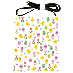 Easter - chick and tulips Shoulder Sling Bags