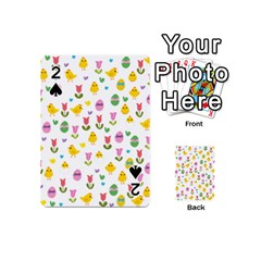 Easter - chick and tulips Playing Cards 54 (Mini)