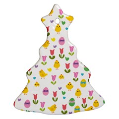 Easter - chick and tulips Ornament (Christmas Tree)