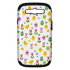 Easter - chick and tulips Samsung Galaxy S III Hardshell Case (PC+Silicone)