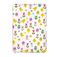 Easter - chick and tulips Samsung Galaxy Tab 2 (10.1 ) P5100 Hardshell Case