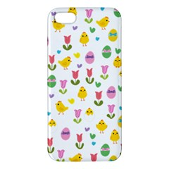 Easter - chick and tulips iPhone 5S/ SE Premium Hardshell Case