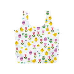 Easter - chick and tulips Full Print Recycle Bags (S)