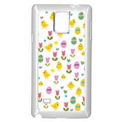 Easter - chick and tulips Samsung Galaxy Note 4 Case (White)