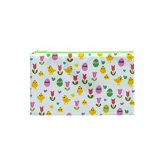 Easter - chick and tulips Cosmetic Bag (XS)