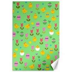 Easter - chick and tulips Canvas 24  x 36