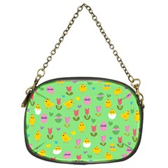 Easter - chick and tulips Chain Purses (One Side)