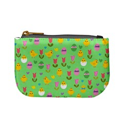 Easter - chick and tulips Mini Coin Purses