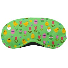 Easter - chick and tulips Sleeping Masks