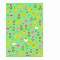 Easter - chick and tulips Small Garden Flag (Two Sides)