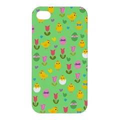 Easter - chick and tulips Apple iPhone 4/4S Premium Hardshell Case