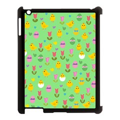 Easter - chick and tulips Apple iPad 3/4 Case (Black)