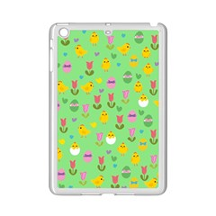 Easter - chick and tulips iPad Mini 2 Enamel Coated Cases