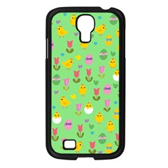 Easter - chick and tulips Samsung Galaxy S4 I9500/ I9505 Case (Black)