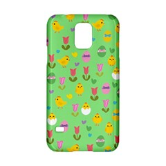 Easter - chick and tulips Samsung Galaxy S5 Hardshell Case