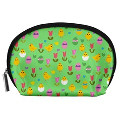 Easter - chick and tulips Accessory Pouches (Large)