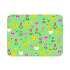 Easter - chick and tulips Double Sided Flano Blanket (Mini)