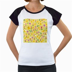 Easter - chick and tulips Women s Cap Sleeve T