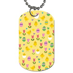 Easter   Chick And Tulips Dog Tag (one Side)