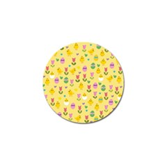 Easter - chick and tulips Golf Ball Marker