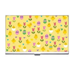 Easter - chick and tulips Business Card Holders