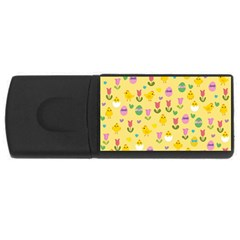 Easter - chick and tulips USB Flash Drive Rectangular (4 GB)