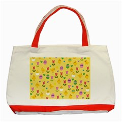 Easter - chick and tulips Classic Tote Bag (Red)