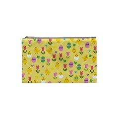 Easter - chick and tulips Cosmetic Bag (Small)