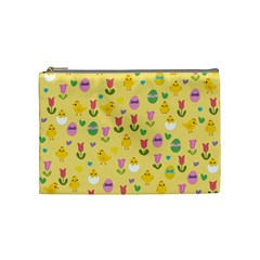 Easter - chick and tulips Cosmetic Bag (Medium)