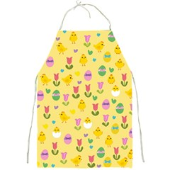Easter - chick and tulips Full Print Aprons