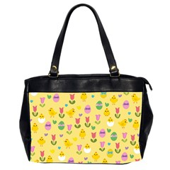Easter - chick and tulips Office Handbags (2 Sides)