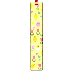 Easter - chick and tulips Large Book Marks