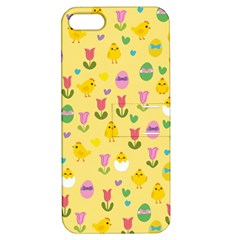 Easter - chick and tulips Apple iPhone 5 Hardshell Case with Stand