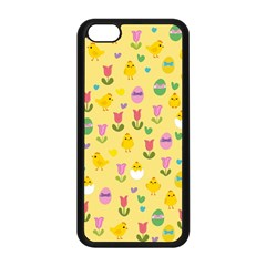 Easter - chick and tulips Apple iPhone 5C Seamless Case (Black)