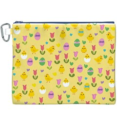 Easter - chick and tulips Canvas Cosmetic Bag (XXXL)