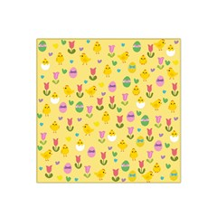 Easter - chick and tulips Satin Bandana Scarf