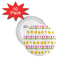 Easter - chick and tulips 1.75  Buttons (10 pack)