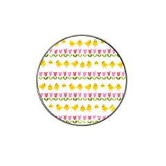 Easter - chick and tulips Hat Clip Ball Marker