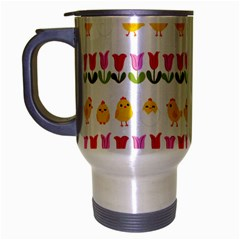 Easter - chick and tulips Travel Mug (Silver Gray)