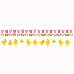 Easter - chick and tulips Large Bar Mats
