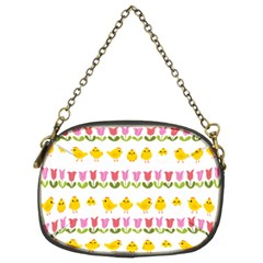 Easter - chick and tulips Chain Purses (Two Sides)