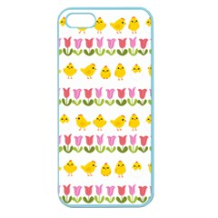 Easter - chick and tulips Apple Seamless iPhone 5 Case (Color)